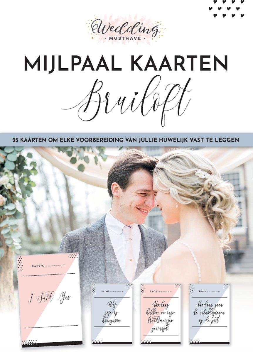 Mijlpaalkaarten Huwelijk - Bruiloft - Wedding Milestone Cards - 25 kaarten