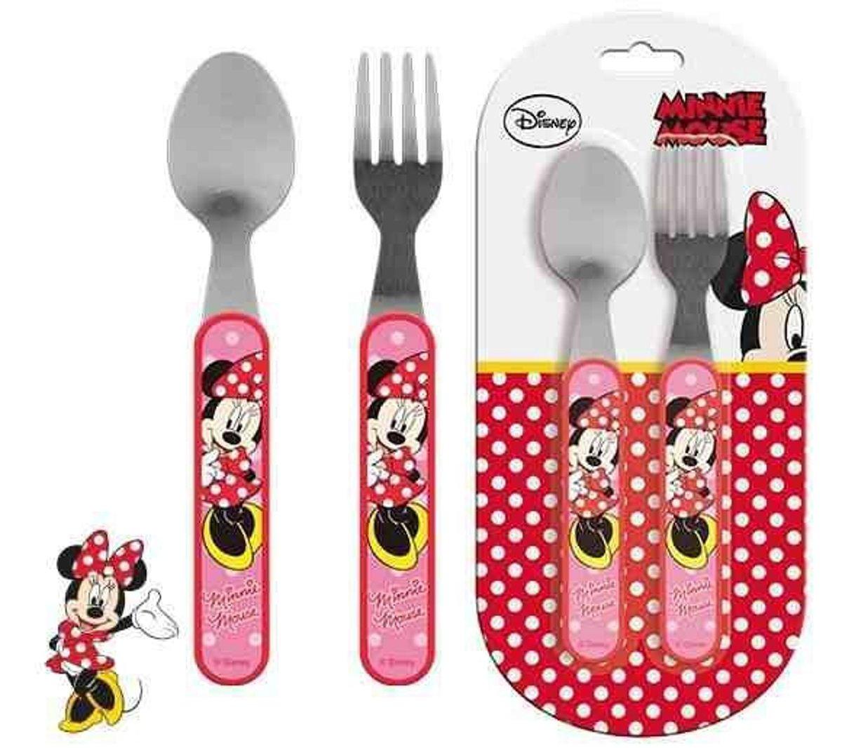Bestek set Minnie Mouse Lepel en Vork