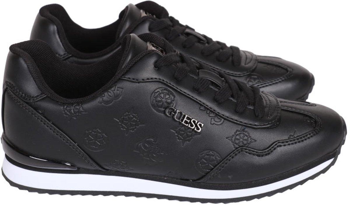 GUESS CharlinActive LadyLeather Li Dames Sneakers Zwart Maat 37