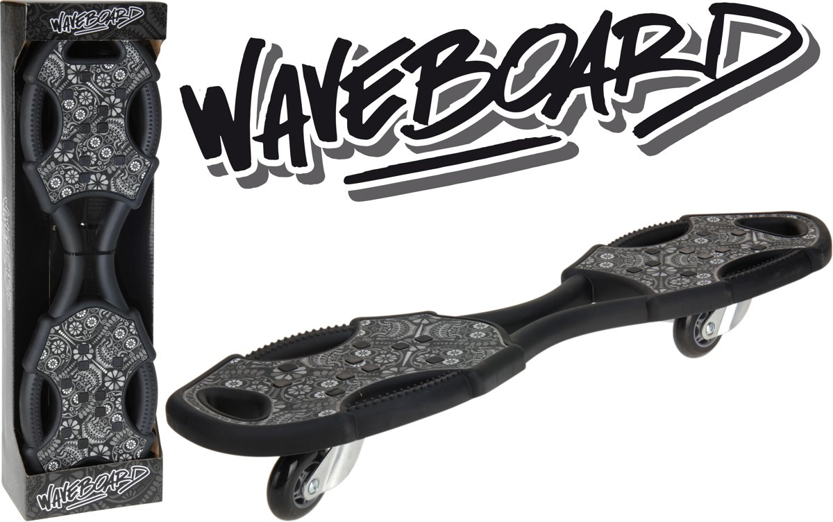 XQ Max Waveboard - Volwassenen - Zwart/Grijs kopen