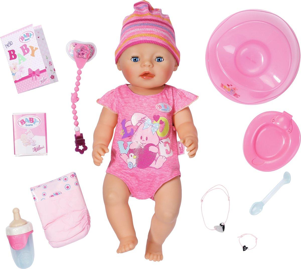 BABY born - Interactieve Pop Roze - Babypop