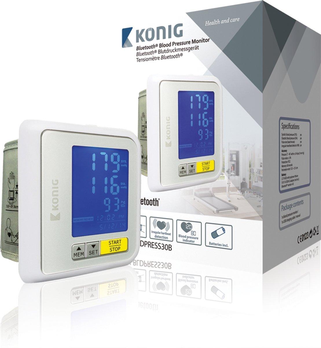 König Pols Automatisch bloeddrukmeter Bluetooth