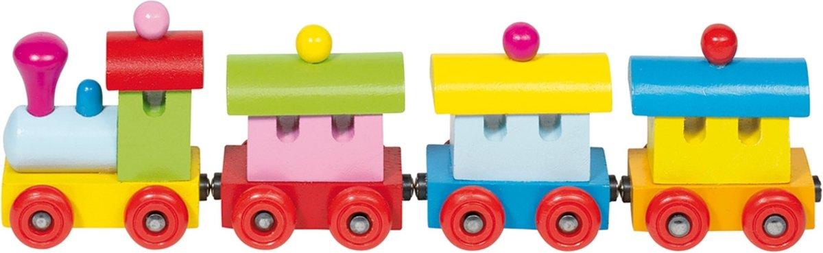 Goki Houten trein sofia met magneetkoppeling kopen