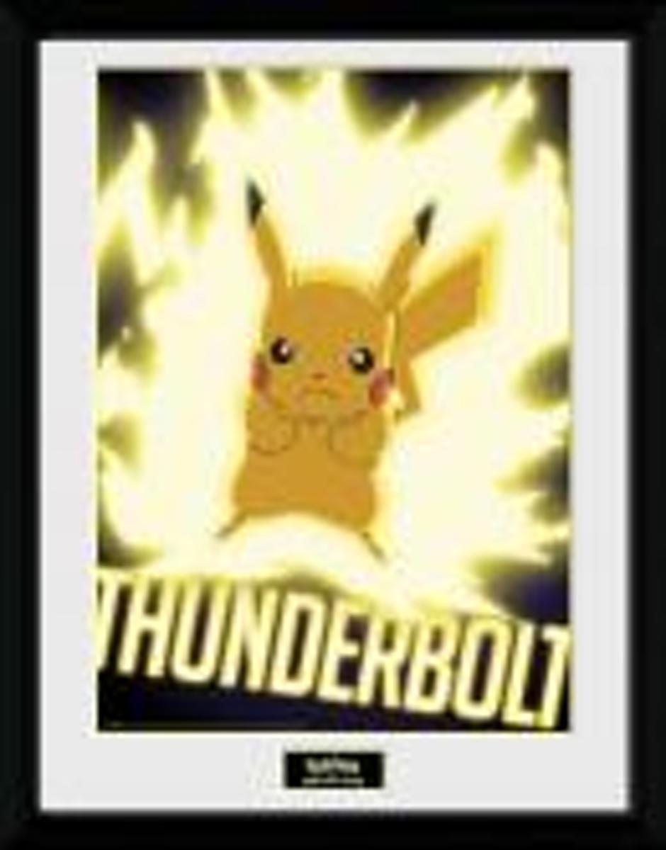 POKEMON - Collector Print 30X40 - Thunder Bolt Pikachu kopen