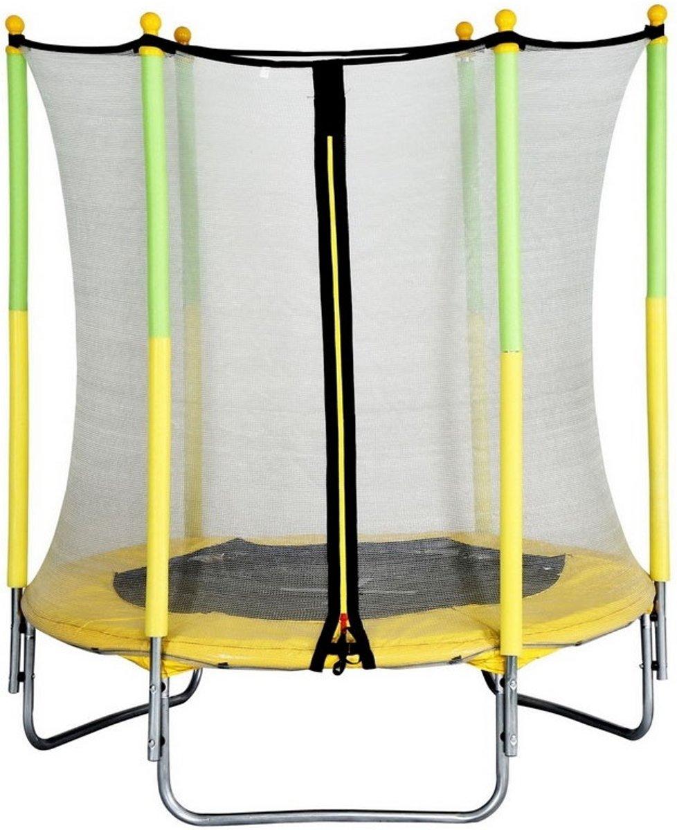 Amigo Trampoline Met Veiligheidsnet Geel 139 Cm