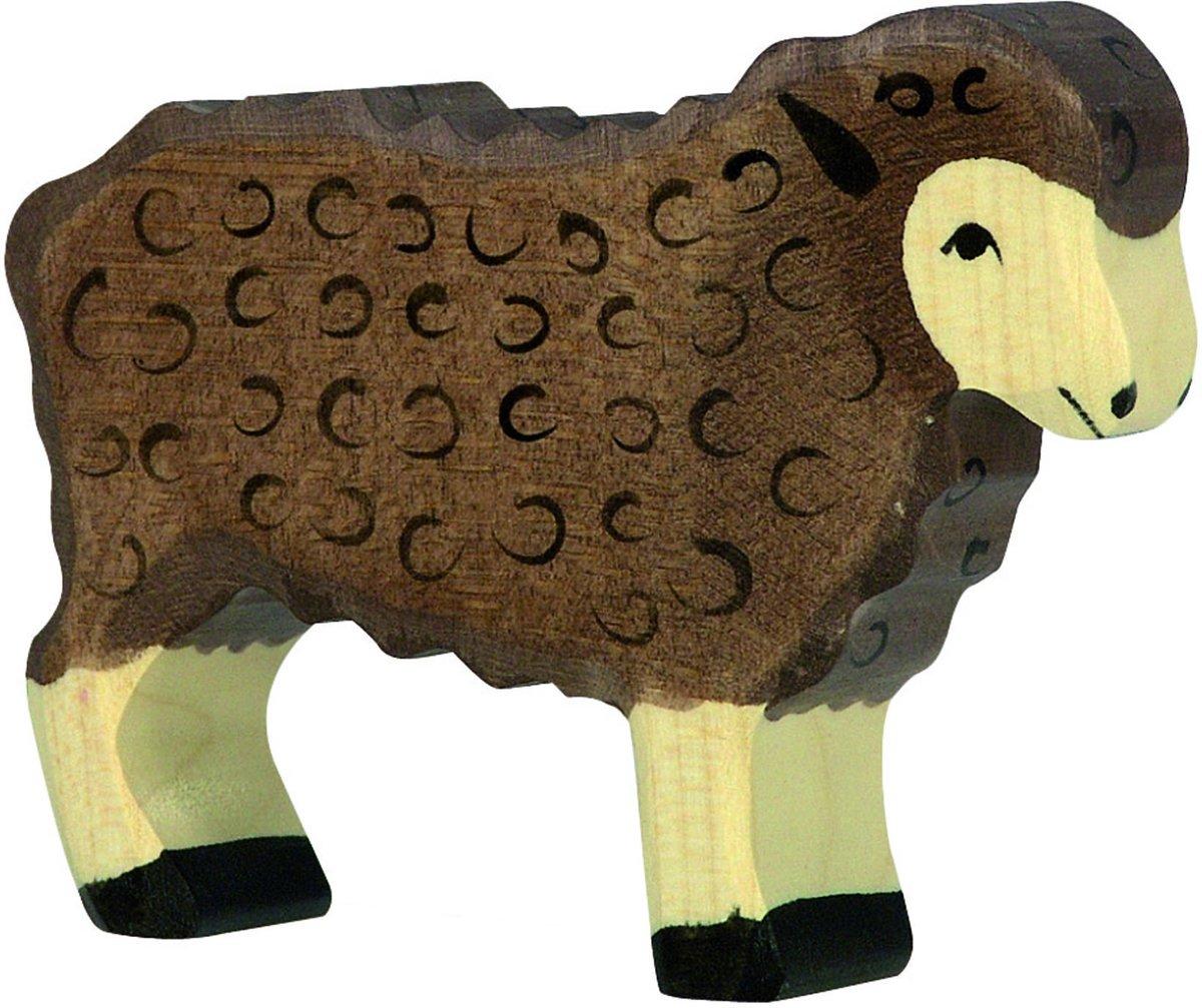 Holztiger Houten staand donker schaap kopen