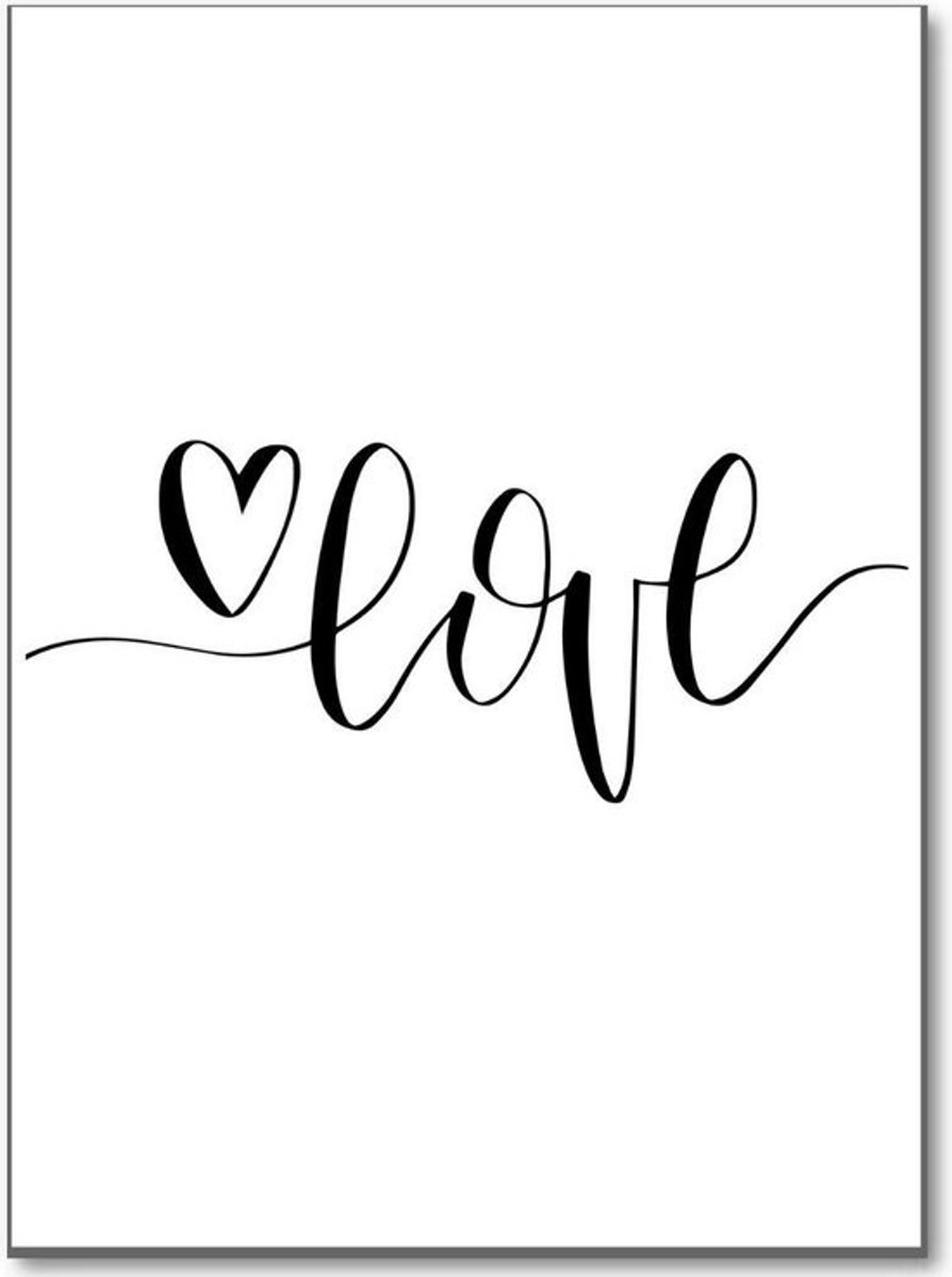 Minimalistic Wall Art - A3 Poster met Boho quote ' Love ' kopen