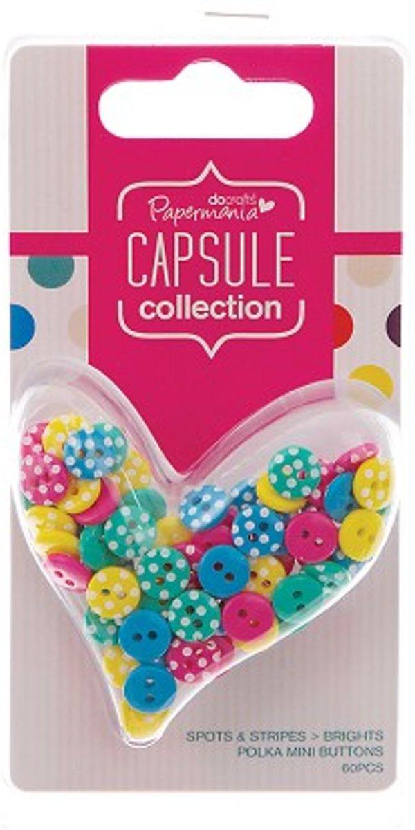 Polka Mini Buttons (60pcs) - Capsule - Spots & Stripes Brights kopen