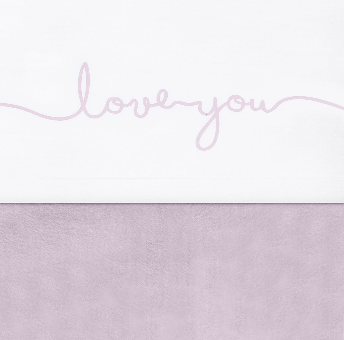Jollein Love you Laken 120x150cm wit met roze letters