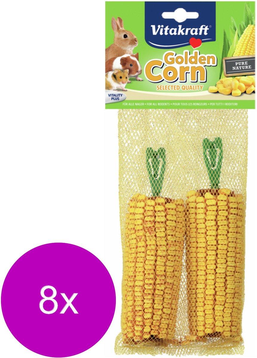 Vitakraft Golden Corn Maiskolf - Knaagdiersnack - 8 x 2 stuks
