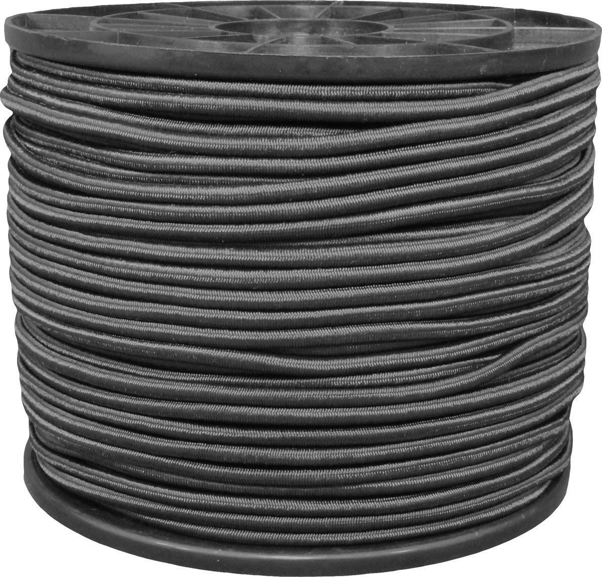 Elastiekkoord - koord -  zwart 6 mm - 100 mtr - haspel kopen