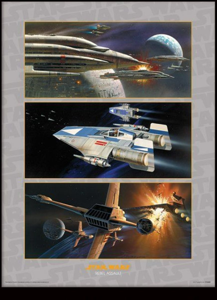 Merchandising STAR WARS - Collector Print HQ 32X42 - Rebel Assault kopen
