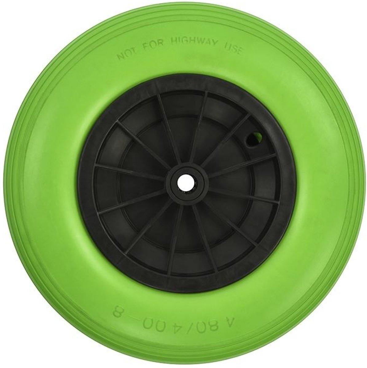 Proplus Kruiwagenwiel Pu/kunststof 16 Inch Groen/zwart kopen