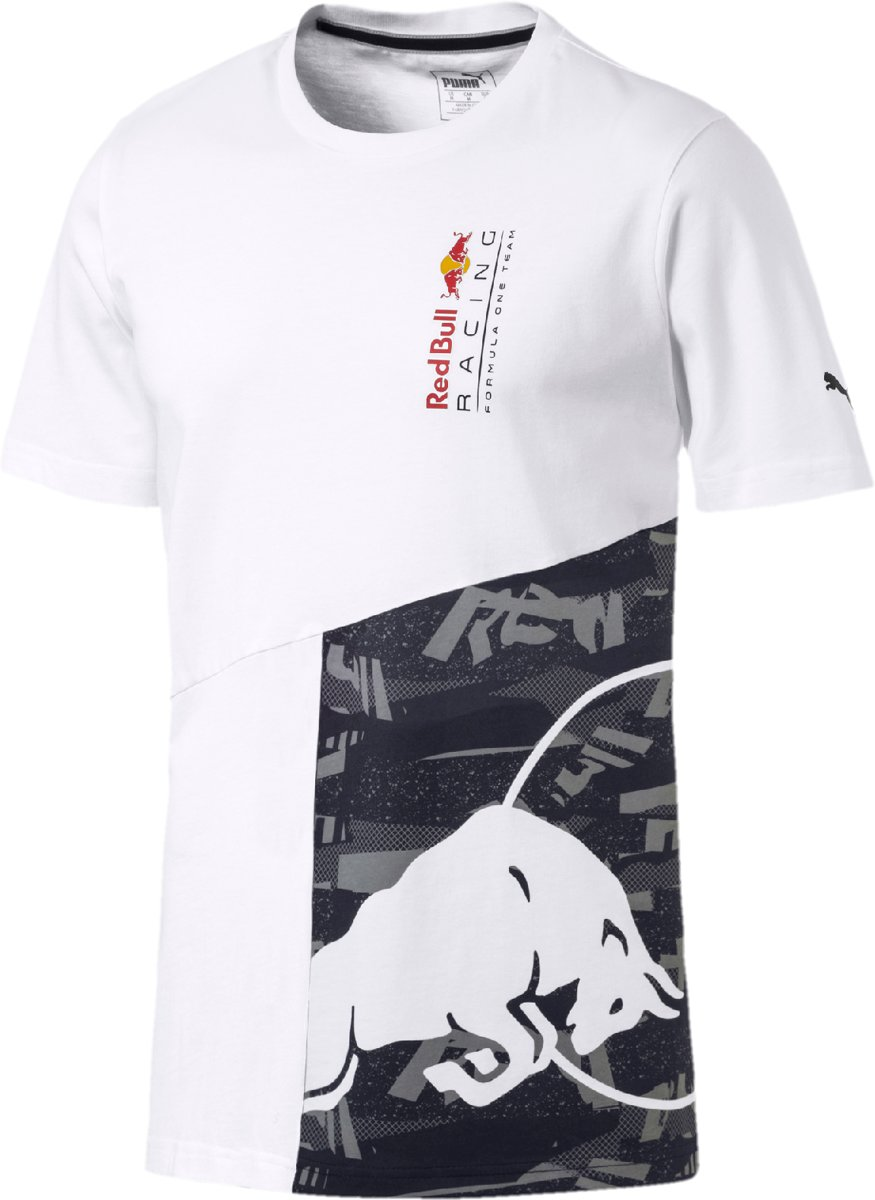PUMA Red Bull Racing Double Bull Tee Shirt Heren - Puma White