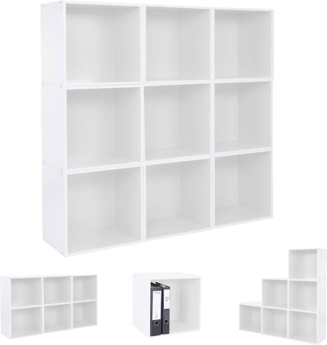 Bolcom Boekenkast Kast Vierkant Cube Shelf Boekenkast