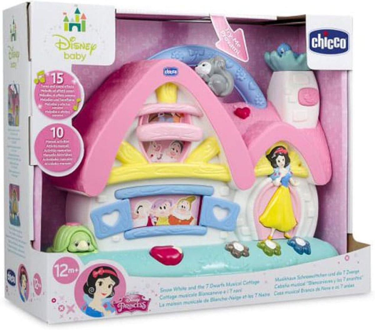 Disney Baby - Musical Cabin - Sneeuwwitje en de 7 Dwergen + Chicco Disney Sneeuwwitje's Magische Spiegel - Grijpspeelgoed