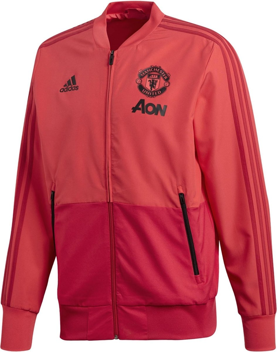 adidas Manchester United Pre Match Sportjas 20182019 Heren BlackRed