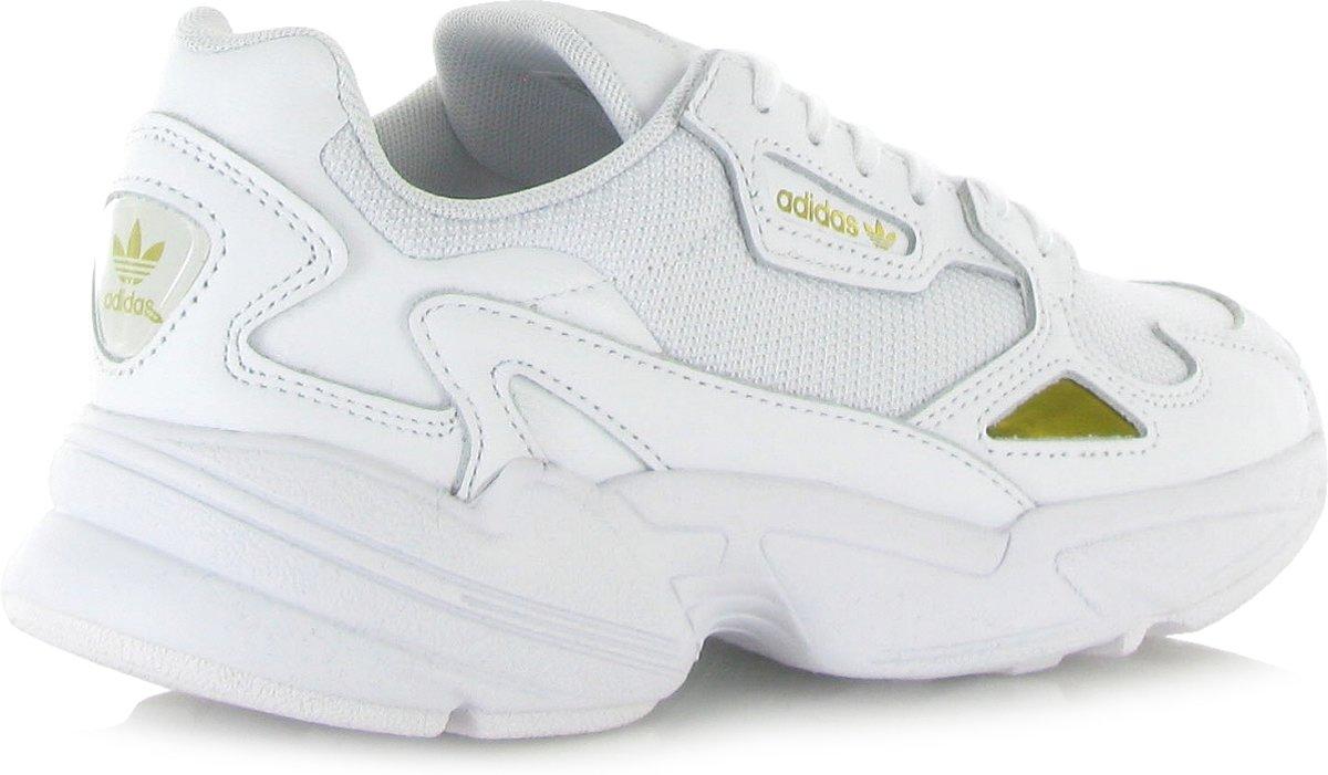 5604db6f6dd bol.com | Adidas Dames Sneakers Falcon W - Wit - Maat 39⅓