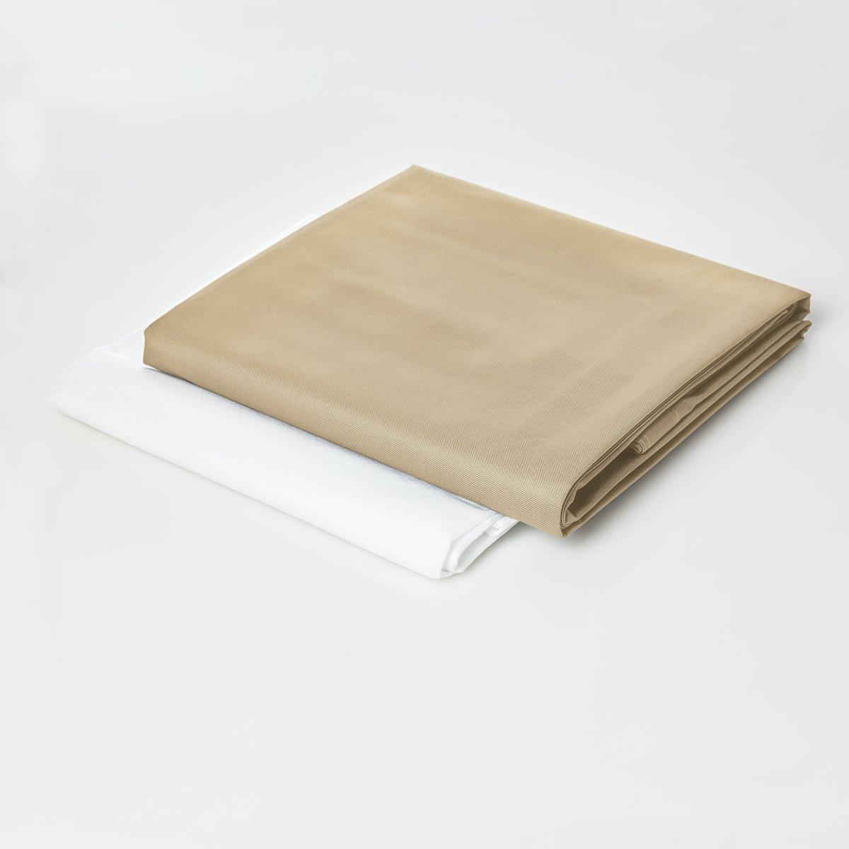 Lumaland - Hoes van luxe XXL zitzak - enkel de hoes zonder vulling - Volume 380 liter - 140 x 180 cm - gemaakt van PVC / Polyester - Beige kopen
