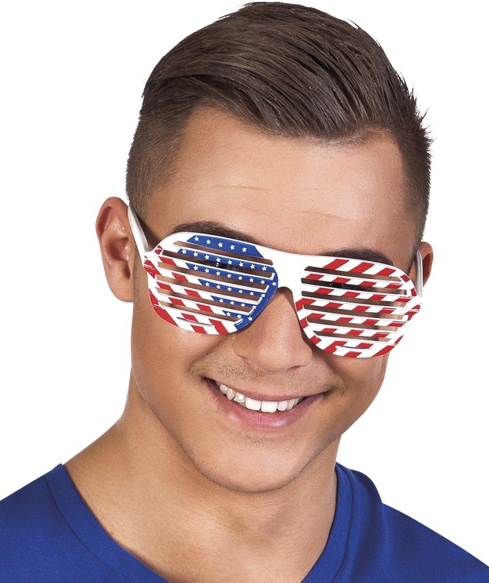 Witte bril USA voor volwassenen - Verkleedattribuut kopen