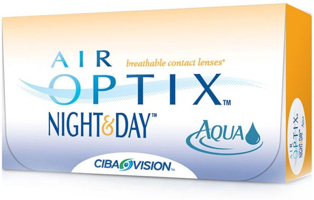 Foto van -0,25 Air Optix Night&Day Aqua - 6 pack - Maandlenzen - Contactlenzen