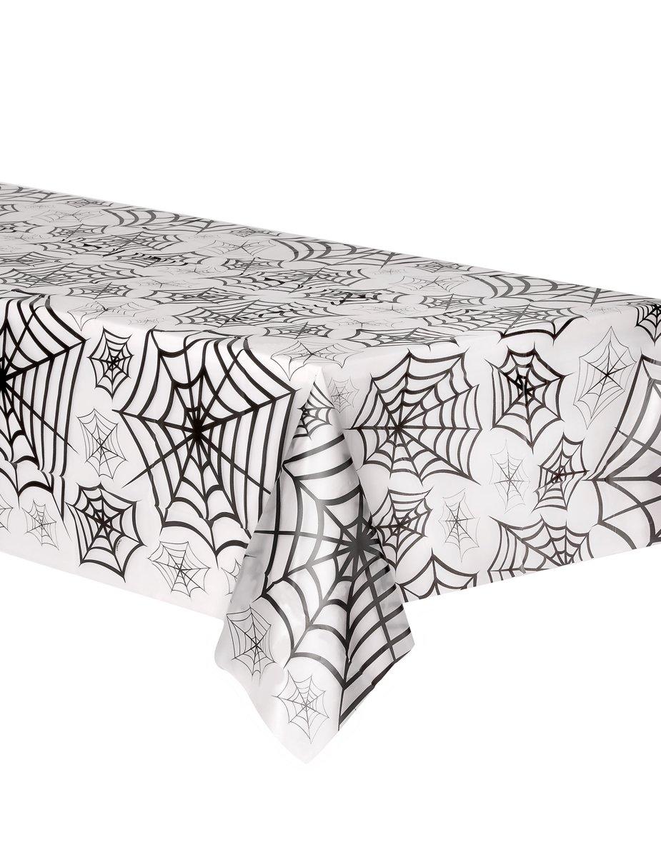 Halloween tafelkleed met zwarte spinnenwebben - Feestdecoratievoorwerp kopen