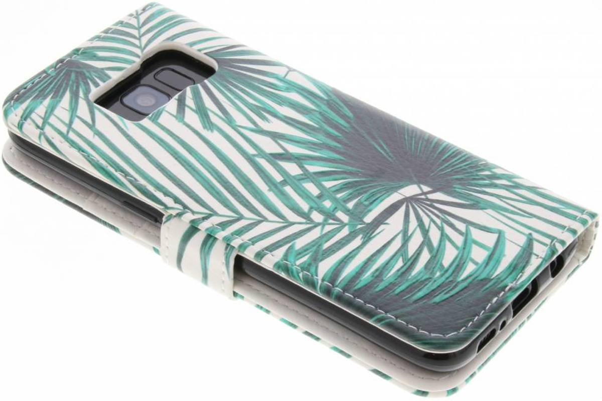 Feuilles Vertes Conception Booktype Tpu Case Pour Samsung Galaxy S6 tT61ZF4l