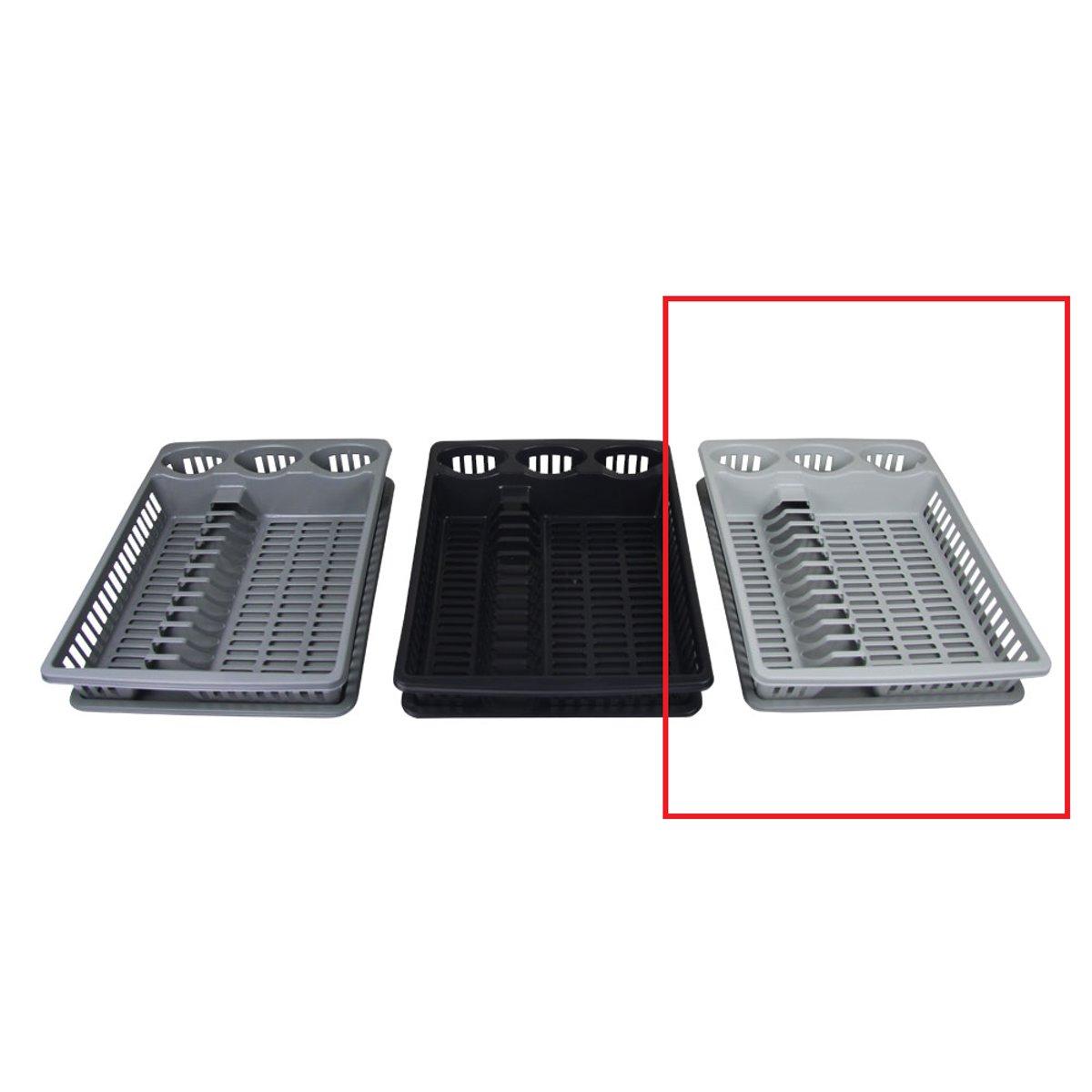 Afdruiprek en onderzetter 2-delig lichtgrijs (37x46x8) kopen