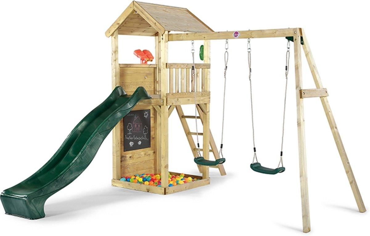 Uitkijk speeltoren Plum met schommel hout