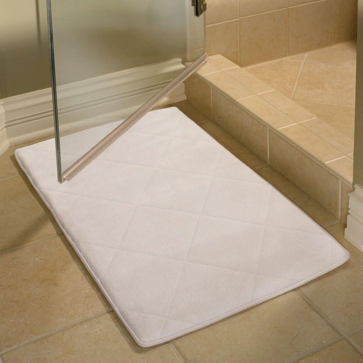 bol.com | bad en toilet-matten set-badkamer-wc-mat-wit