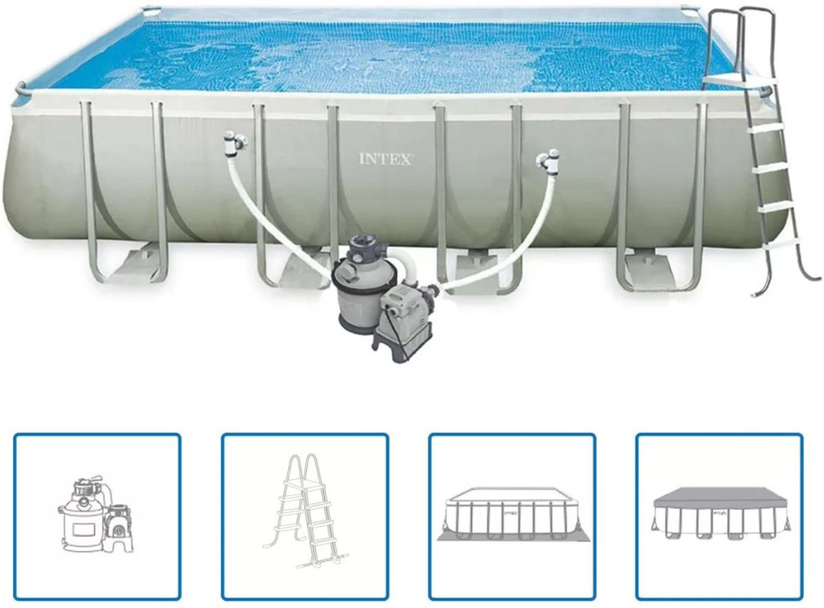 Intex Ultra Frame zwembad set rechthoek 549 x 274 132 cm 28352GN