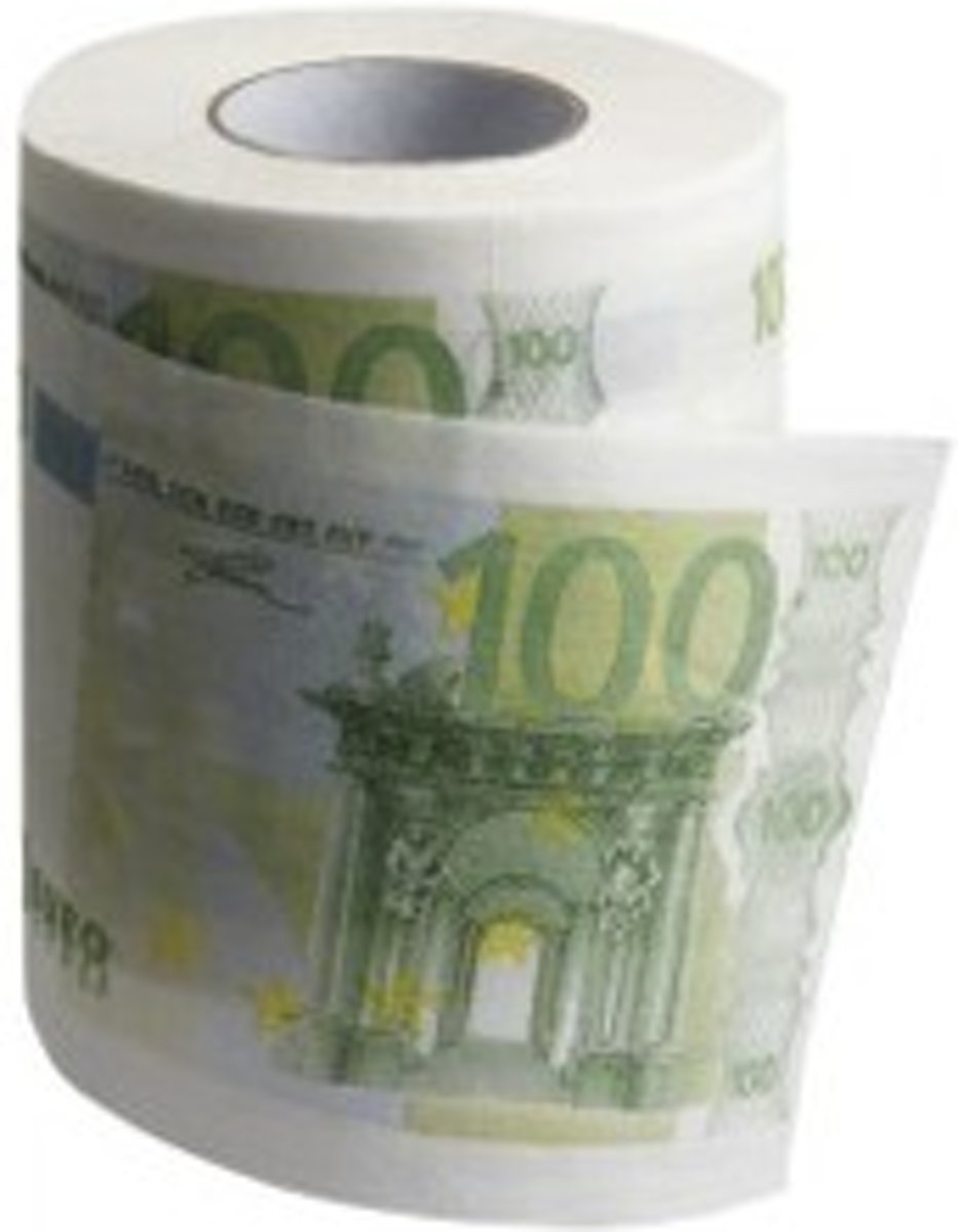 Geld Wc Rol.Out Of The Blue Euro Toilet Paper Geld Toiletpapier