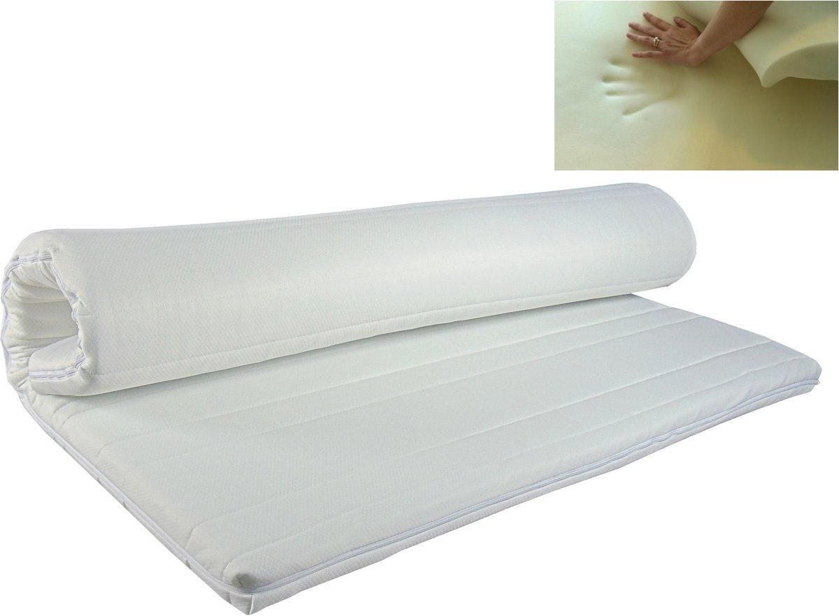 Slaaploods.nl Topdekmatras - Traagschuim Comfort - 160x200 cm - Dikte 8 cm