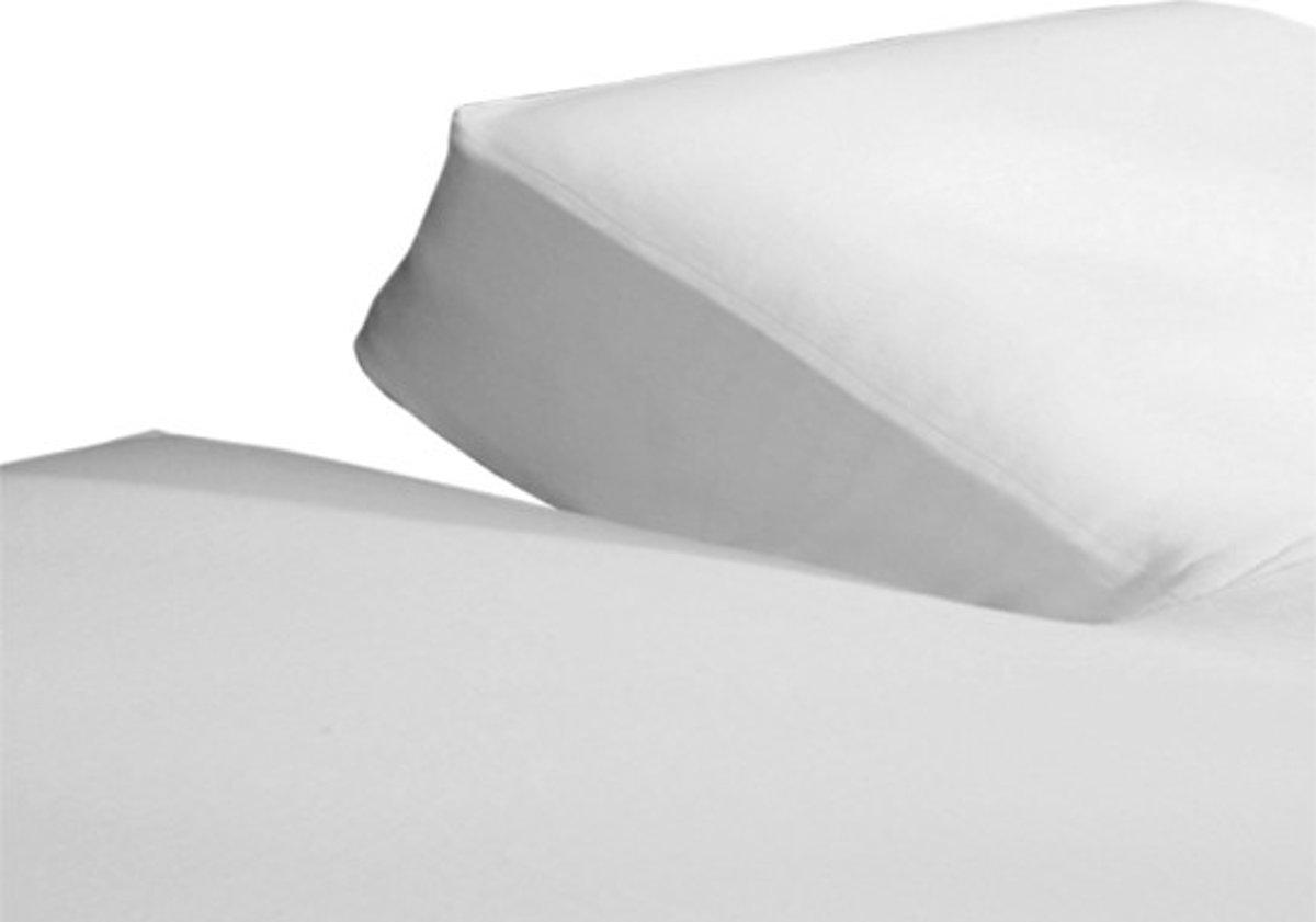Bol.com jersey split hoeslaken wit lits jumeaux 180x200 220 cm