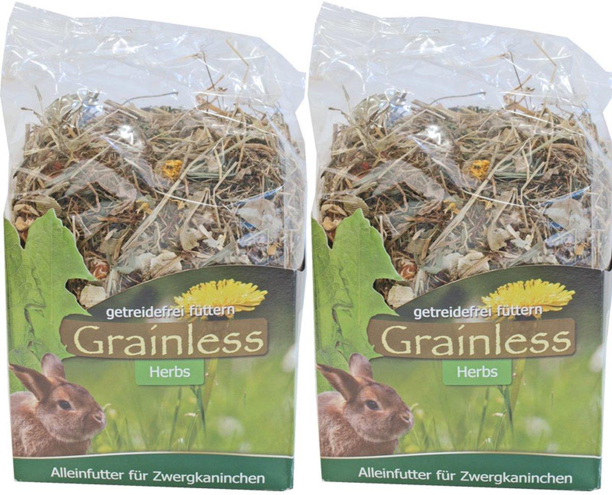 Graanvrij kruidenmix voor konijntjes 950 gr per 2 verpakkingen