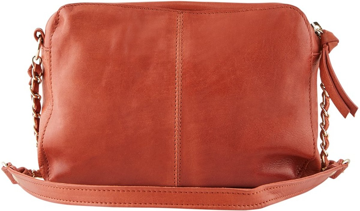 PIECES schoudertasje Naina Leather Crossbody Picante Red