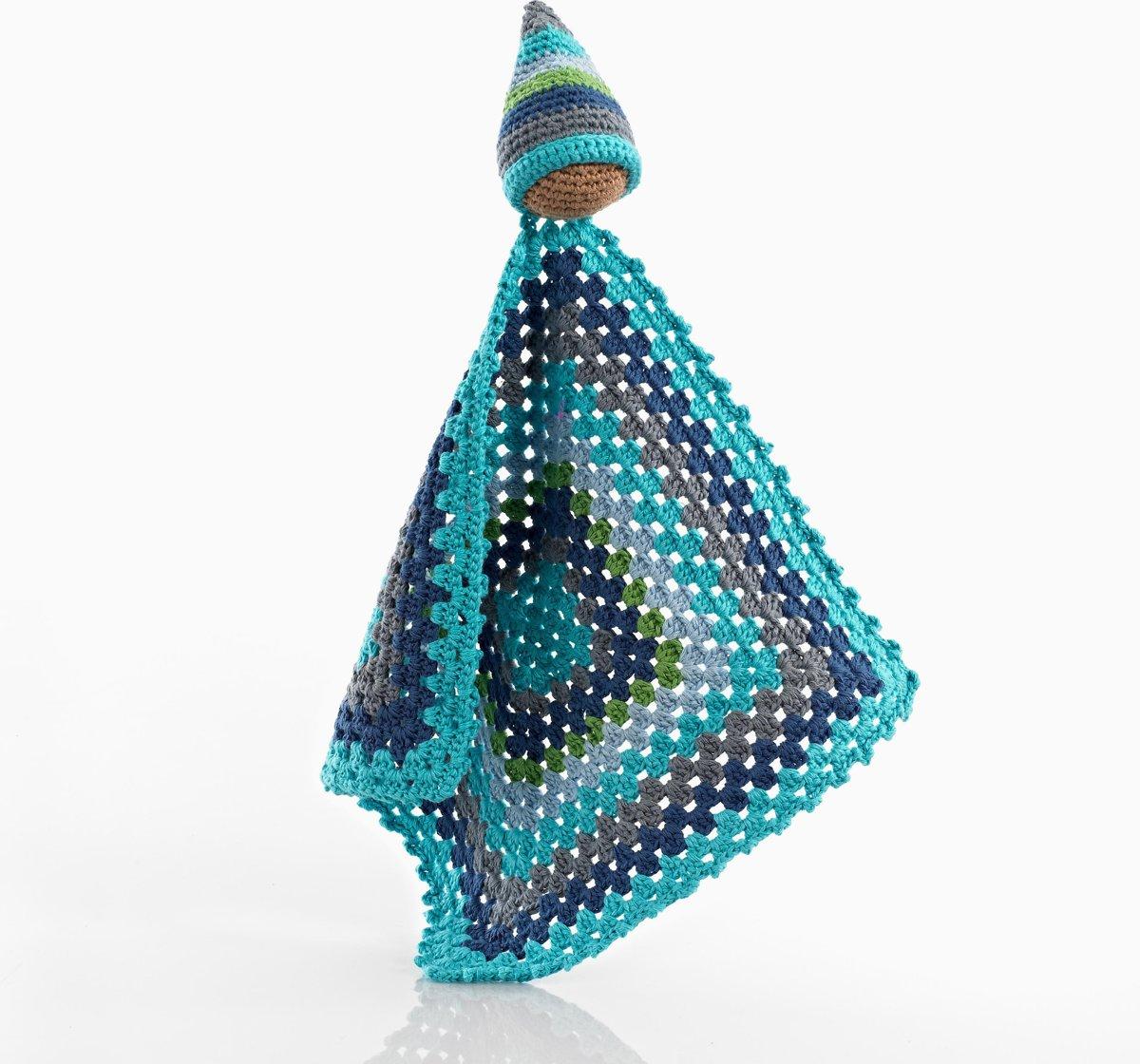 Pebble knuffeldoek - Pixie blauw