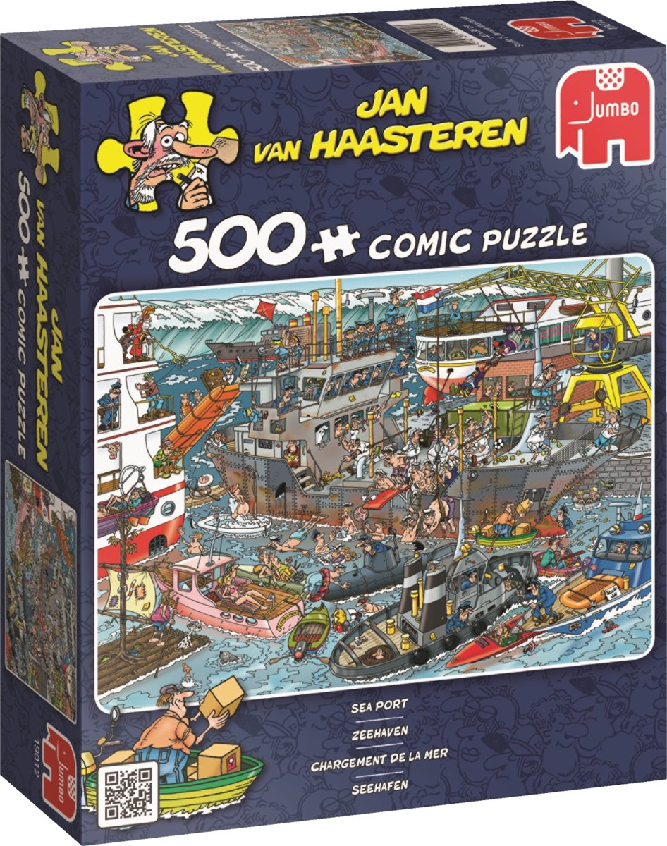 Jan van Haasteren Zeehaven - Puzzel 500 Stukjes kopen