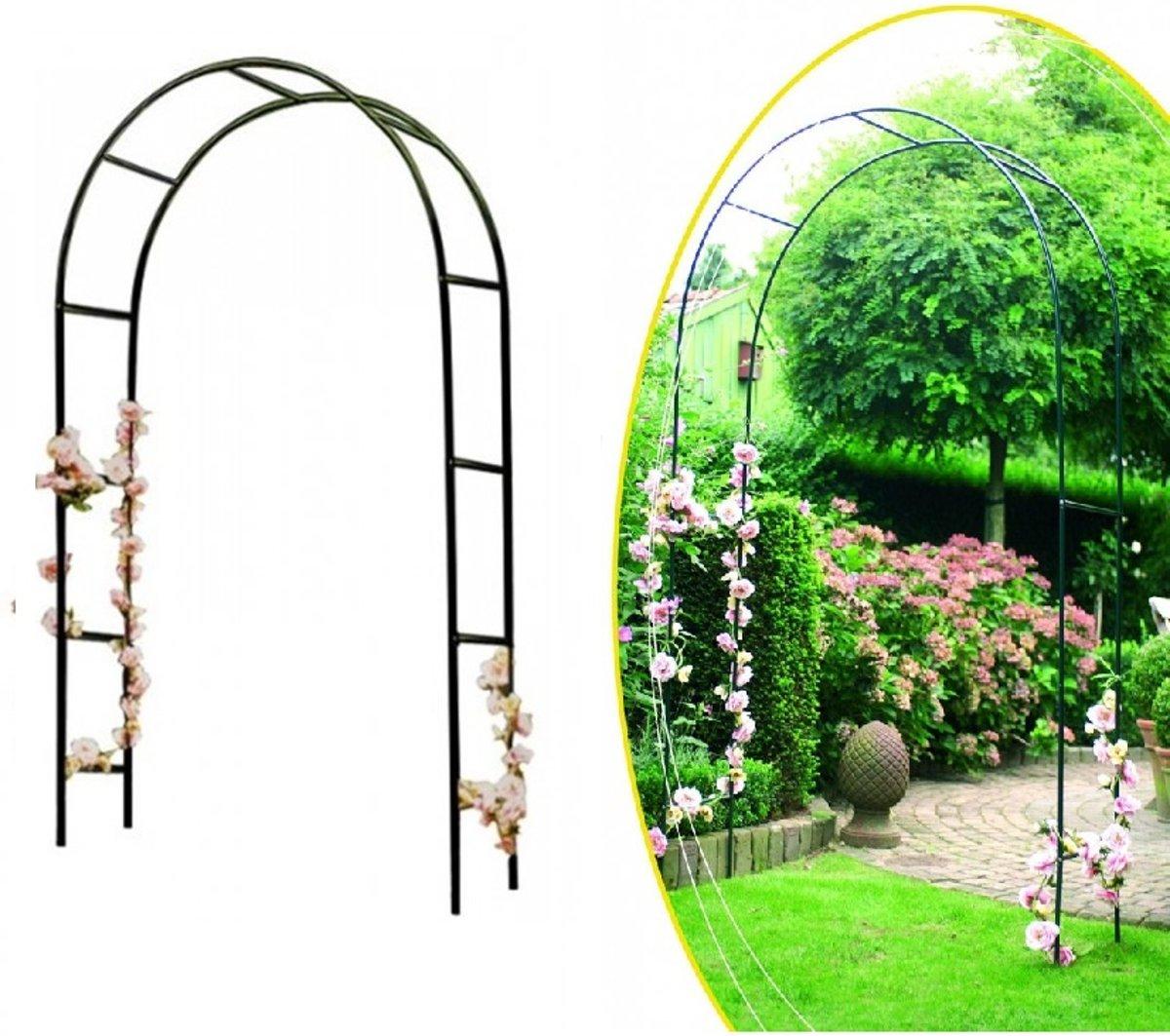 Tuin Pergola Bloemenboog - Tuinboog Klimplanten Paal - Plantensteun - Trouwboog - Staal 2.4x1.4m