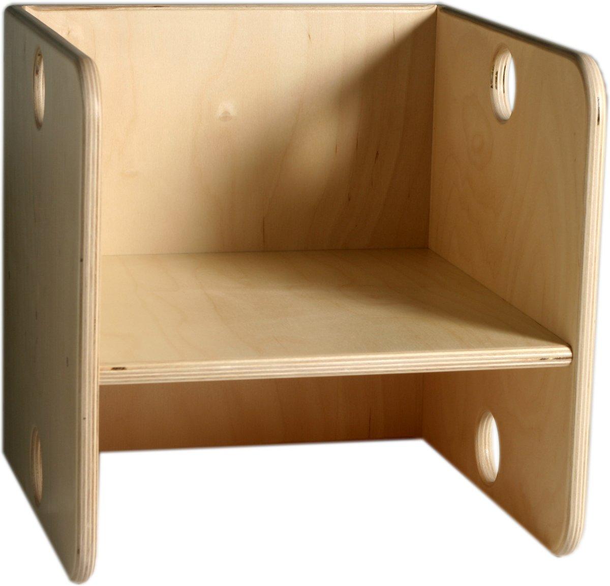 ADO houten Kubusstoel voor kleuters 36x36x36 cm kopen