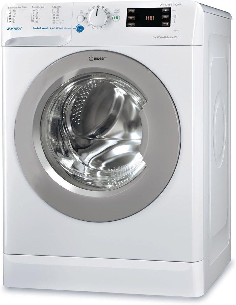 Indesit BWE 71453X WSSS EU Vrijstaand Voorbelading 7kg 1400RPM A+++ Wit wasmachine