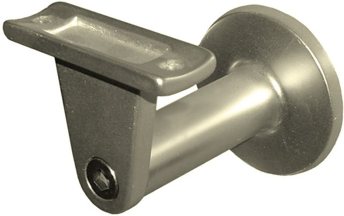 Hermeta leuninghouder verstelbaar - aluminium champagnekleur - 75 mm - hol met tapgat - 3515-02 kopen