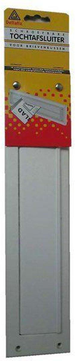 Deltafix Brievenbus brievenbustochtplaat met klep     wit