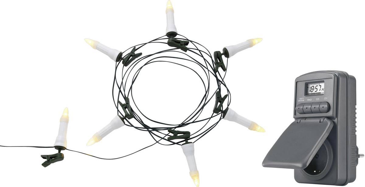 Polarlite PCA-01-001 Kerstboomverlichting Buiten werkt op het lichtnet 16 LED Warm-wit Verlichte lengte: 12 m kopen