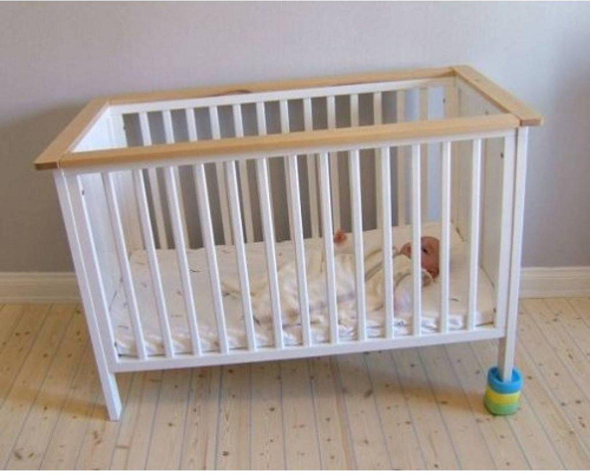Reflux Matras Baby : Bol baby bed blocks zwart wit grijs bed blokken voor bij