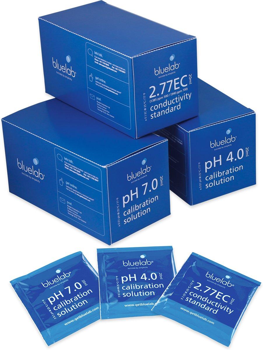 Bluelab, ijk vloeistof pH 4, 20 ml, doos 25st