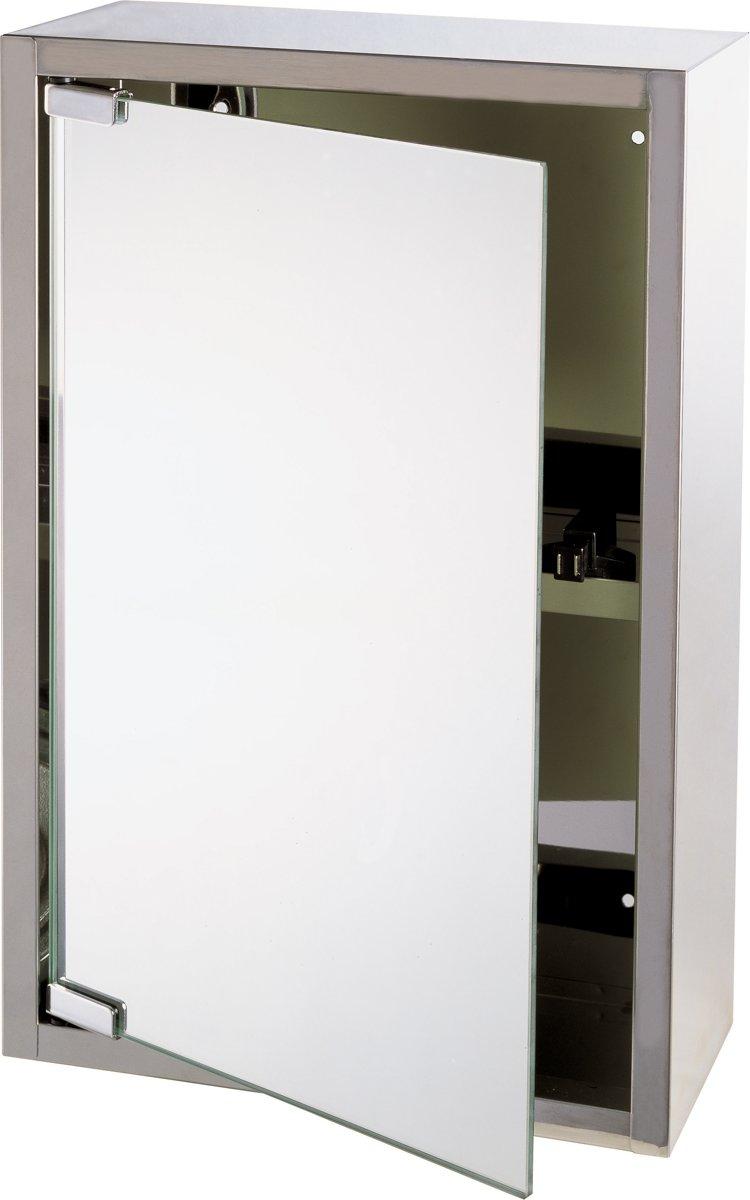differnz look spiegelkast 51 x 38 x 18 cm rvs