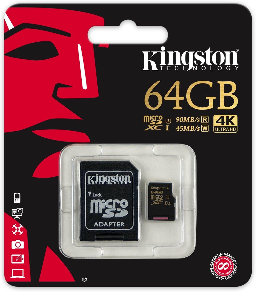 95m Kingston 64gb Gold Microsd Uhs Gotteamdesigns Sdhc Sandisk Cl10 Speed 80mb S Bolcom Technology I Class 3 U3