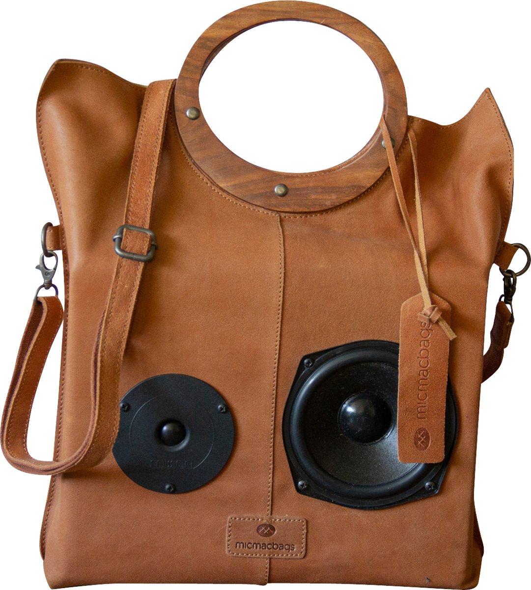 Bluetooth - speakers - vintage - leren - damestas - uniek kopen