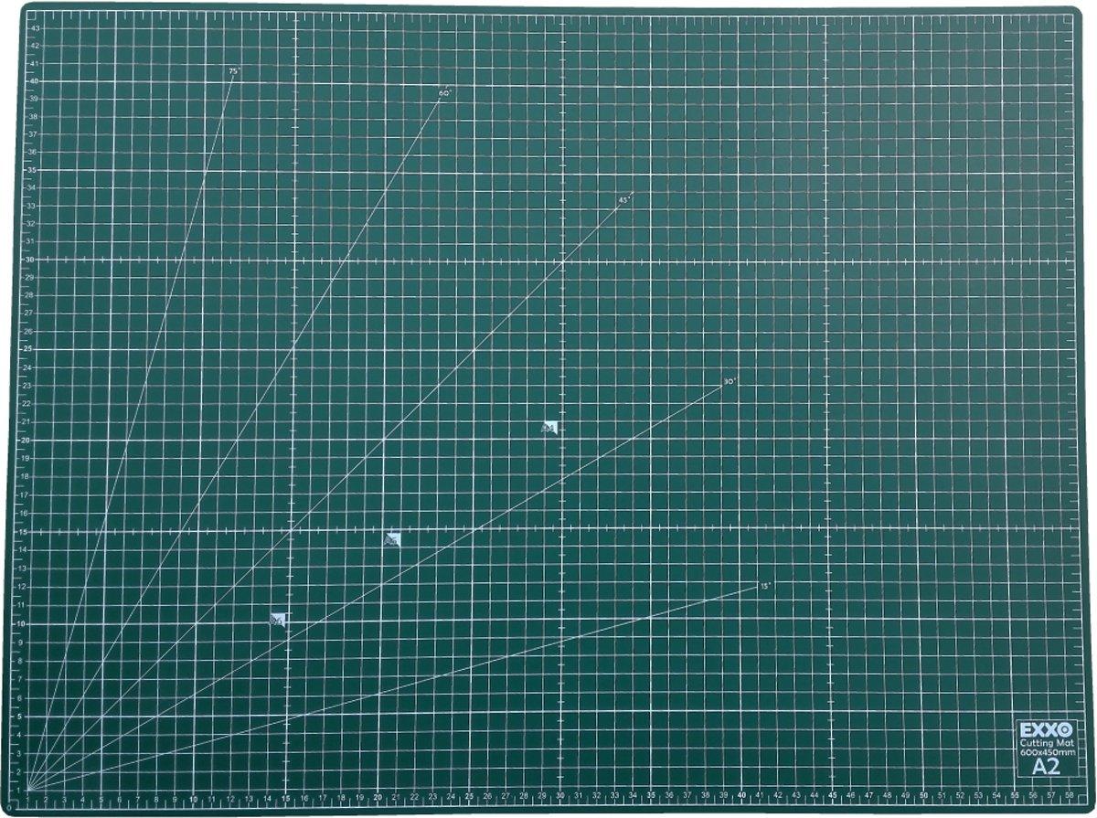 EXXO #10080 - A2 Snijmat - 5-laags zelfhelend - 2-zijdige rasterdruk - 45x60cm - 6 stuks kopen